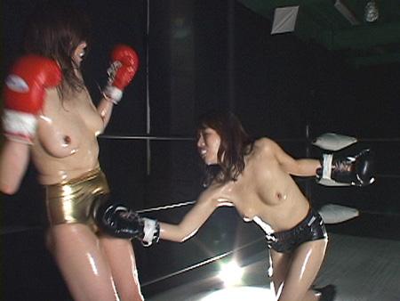 女格闘技 レズボクシング 急所パンチ